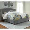 Belfort Select Kasidon Queen Upholstered Bed - Item Number: B600-657+654+696
