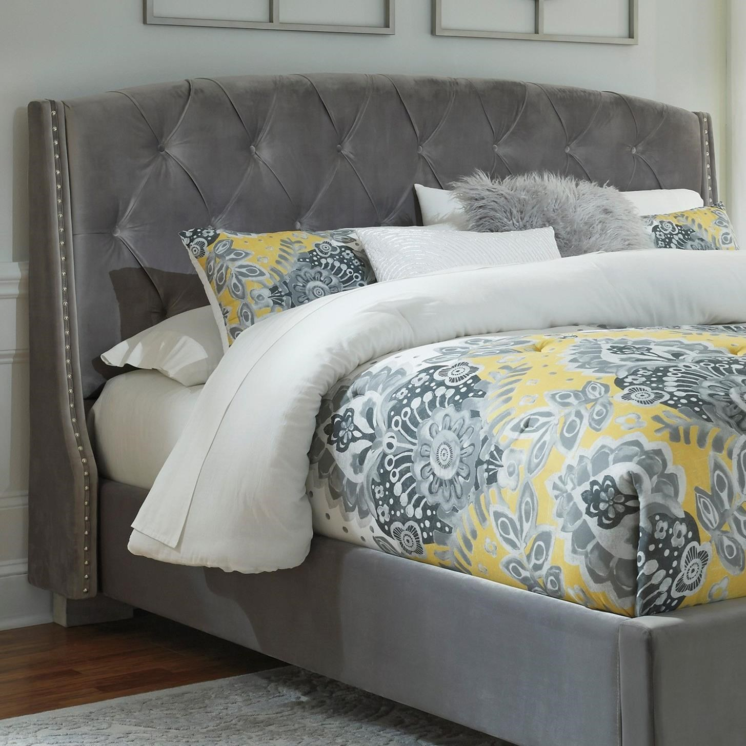 signature american tufted script of kit padded queen and white plans canada full maya footboard size headboard upholstered