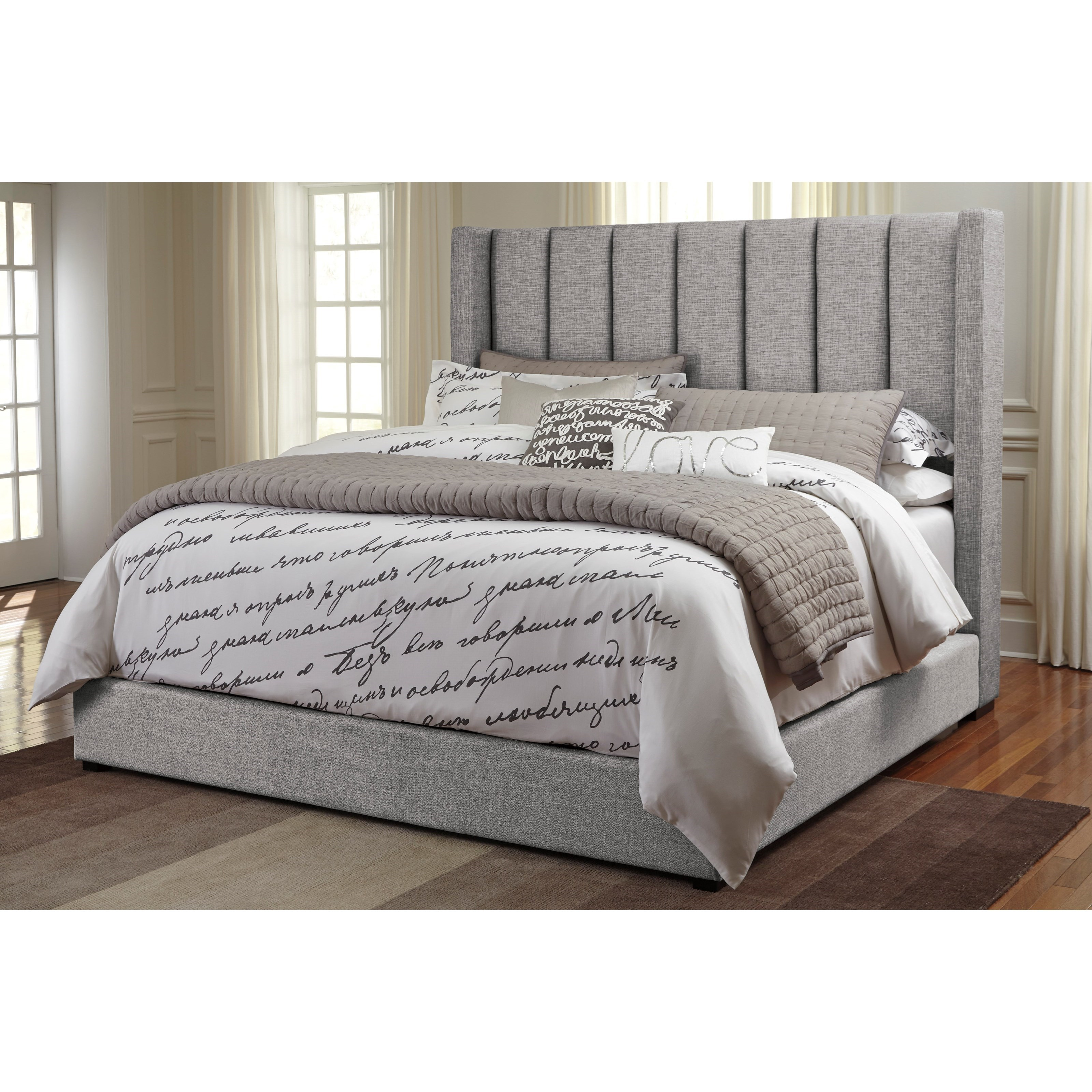 Signature Design by Ashley Kasidon Queen Upholstered Bed - Item Number: B600-877+874