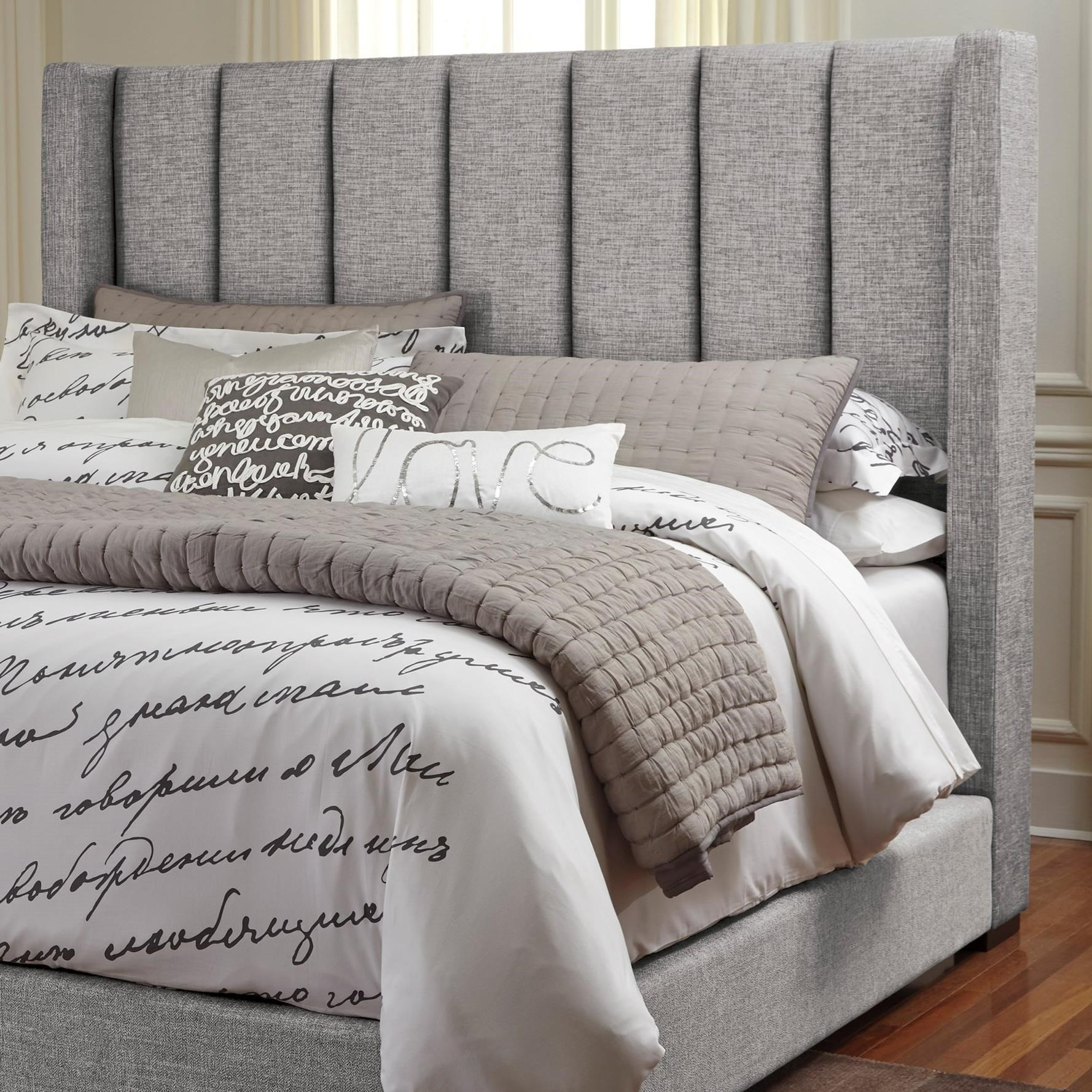 Signature Design by Ashley Kasidon Queen Upholstered Headboard - Item Number: B600-877