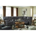 Signature Design by Ashley Urbino Reclining Living Room Group - Item Number: 57201 Living Room Group