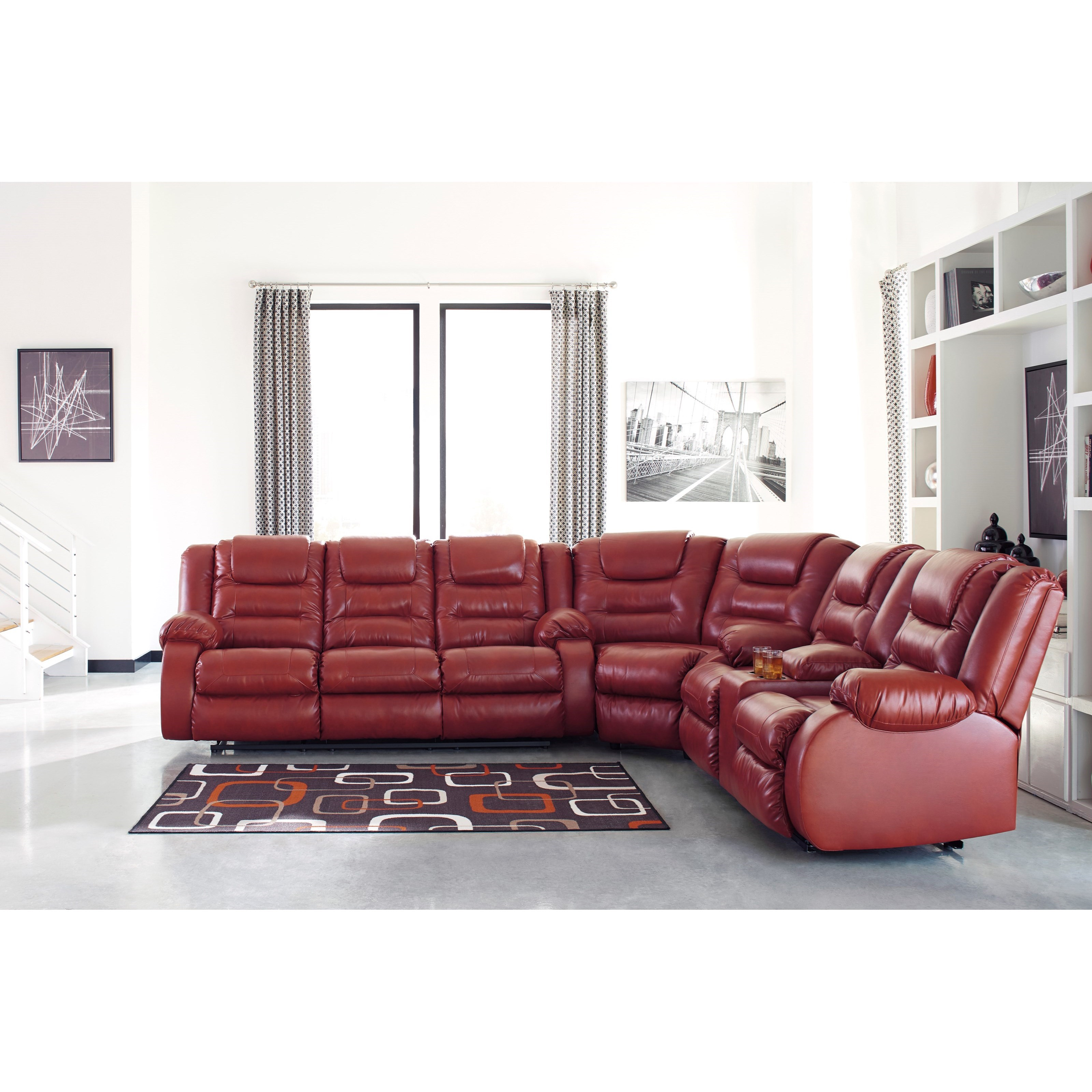 Sectional Sofas By Ashley Furniture: Signature Design By Ashley Vacherie Casual Reclining