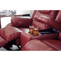 Signature Design by Ashley Vacherie Casual Double Reclining Love Seat with Storage Console