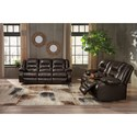 Signature Design by Ashley Vacherie Reclining Living Room Group - Item Number: 79307 Living Room Group 3