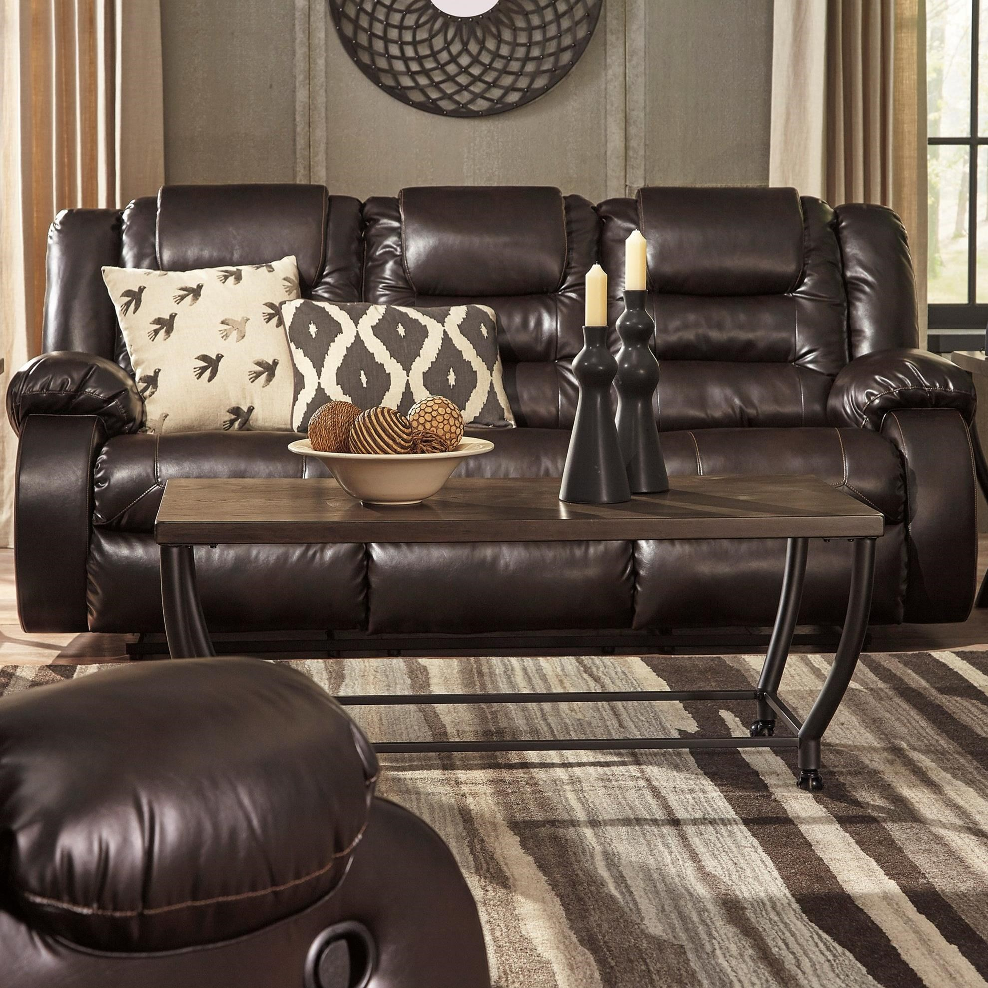 Signature Design by Ashley Vacherie Casual Reclining Sofa ...