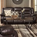 Signature Design by Ashley Vacherie Casual Reclining Sofa with Infinite Reclining Positions