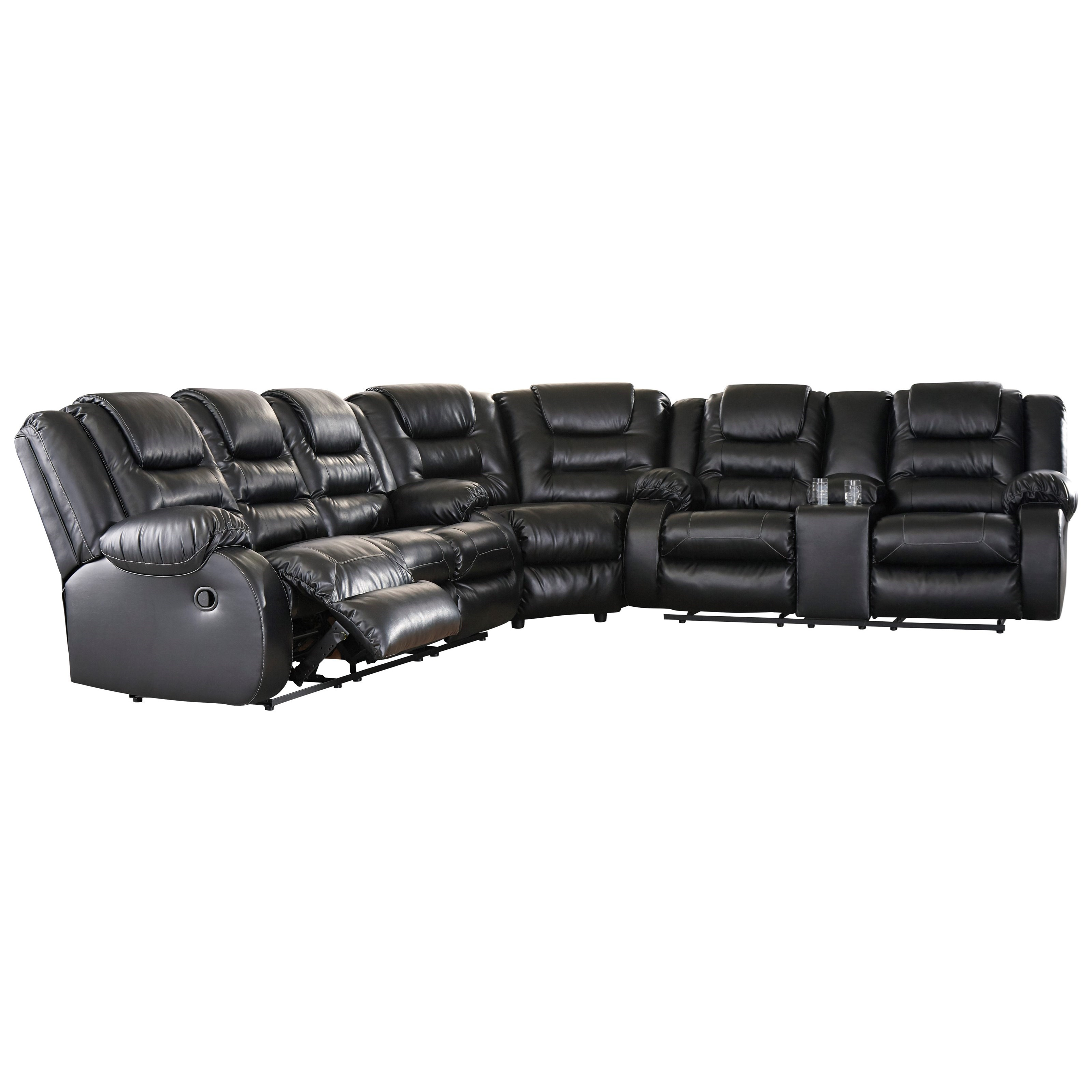 Signature Design by Ashley Vacherie Reclining Sectional Sofa - Item Number: 7930888+77+94