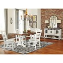 Signature Design by Ashley Valebeck Casual Dining Room Group - Item Number: D546 Dining Room Group 4