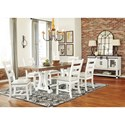 Signature Design by Ashley Valebeck Formal Dining Room Group - Item Number: D546 Dining Room Group 5