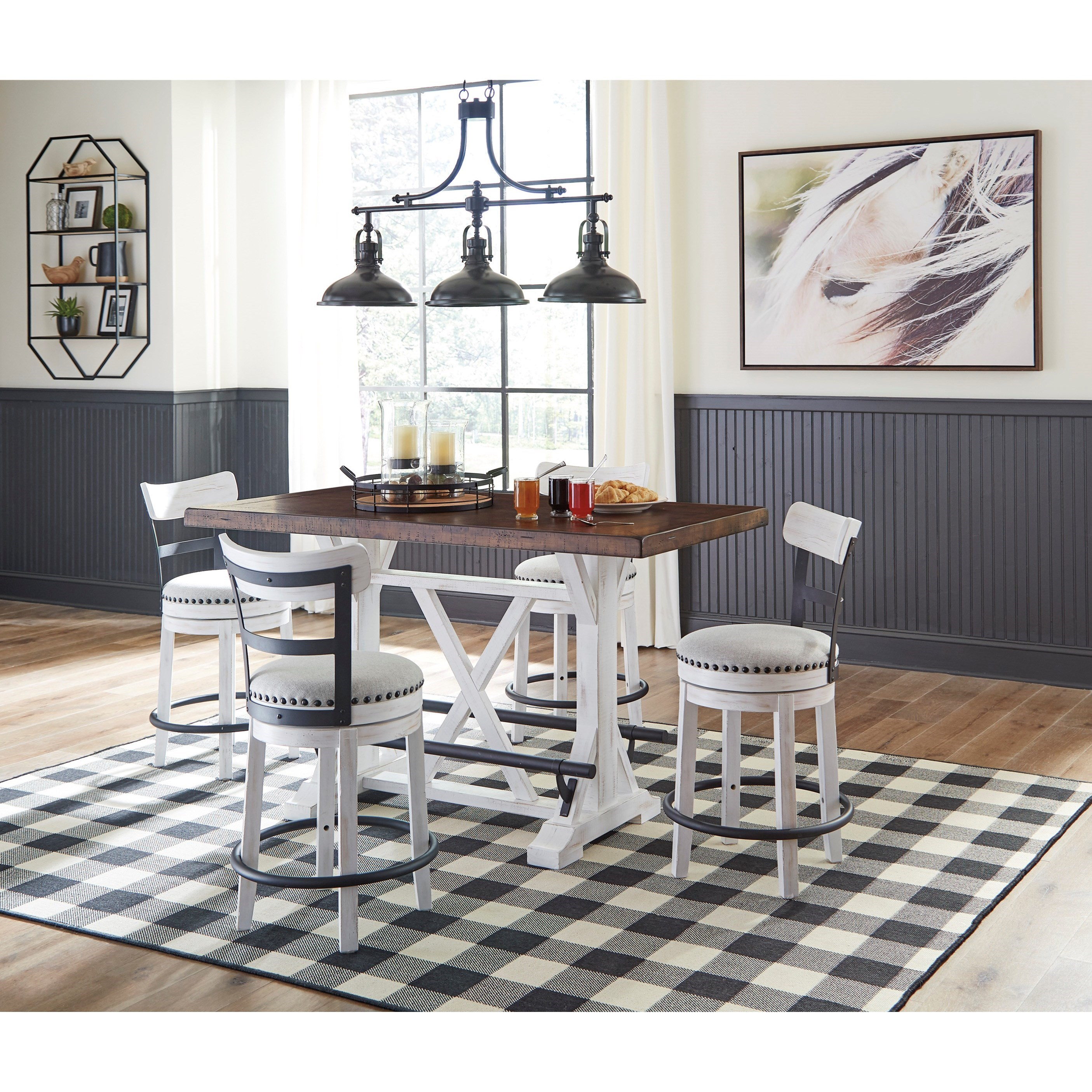 Ashley Signature Design Valebeck 5 Piece Counter Height