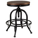 Signature Design by Ashley Valebeck Counter Height Swivel Barstool - Item Number: D546-224