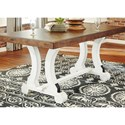 Signature Design by Ashley Valebeck Two-Tone Rectangular Dining Room Table with Leaf