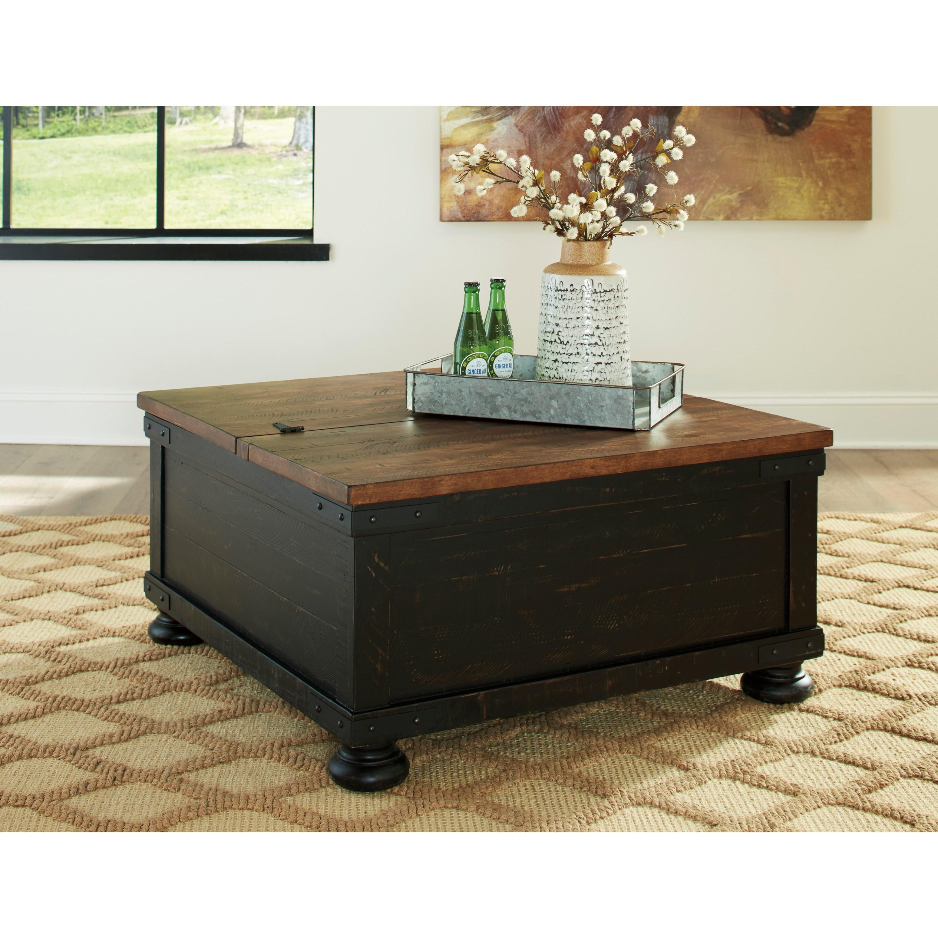 Storage Coffee Table Ashley: Signature Design By Ashley Valebeck Two-Tone Finish
