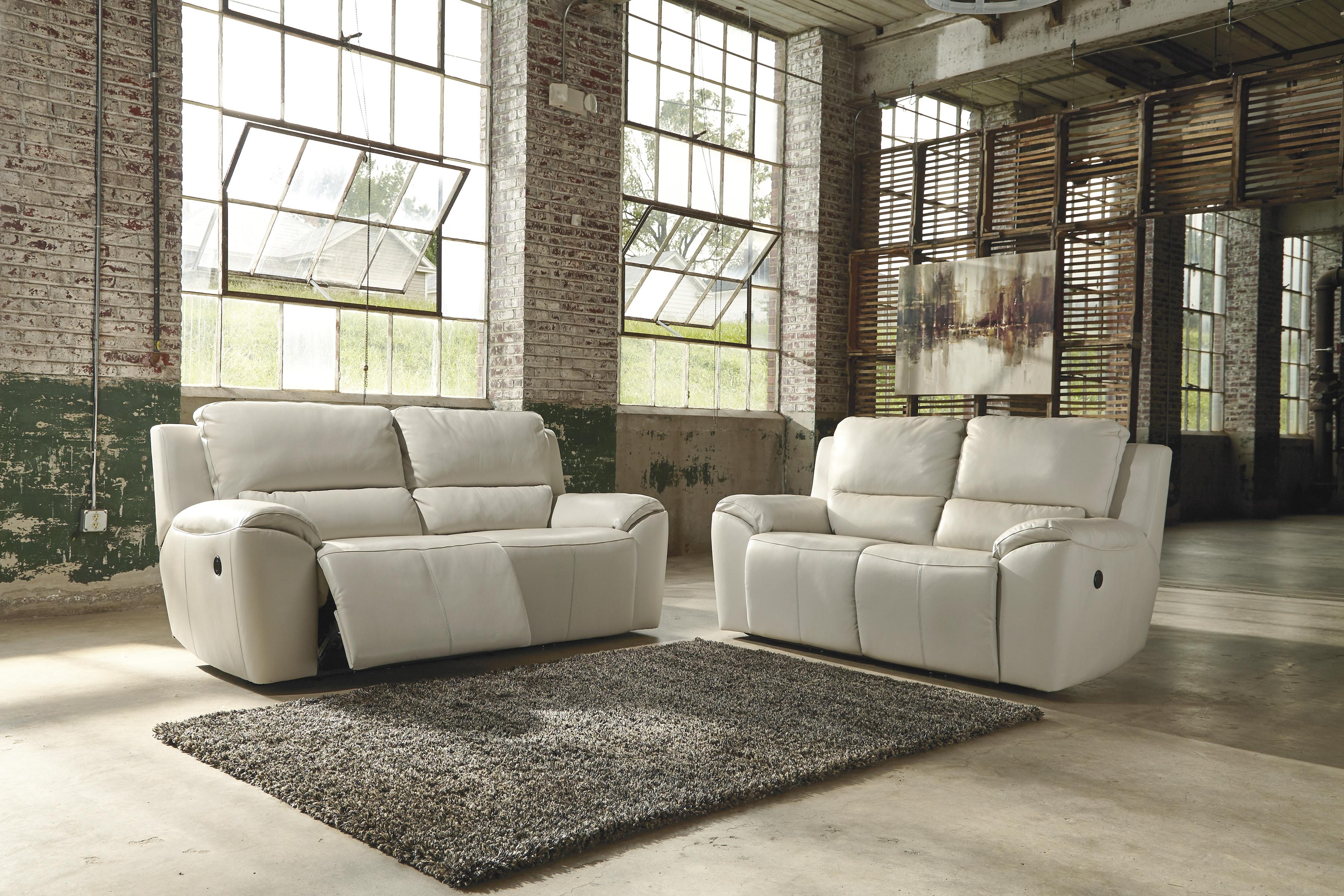 Signature Design by Ashley Valeton Reclining Living Room Group - Item Number: U73500 Living Room Group 2