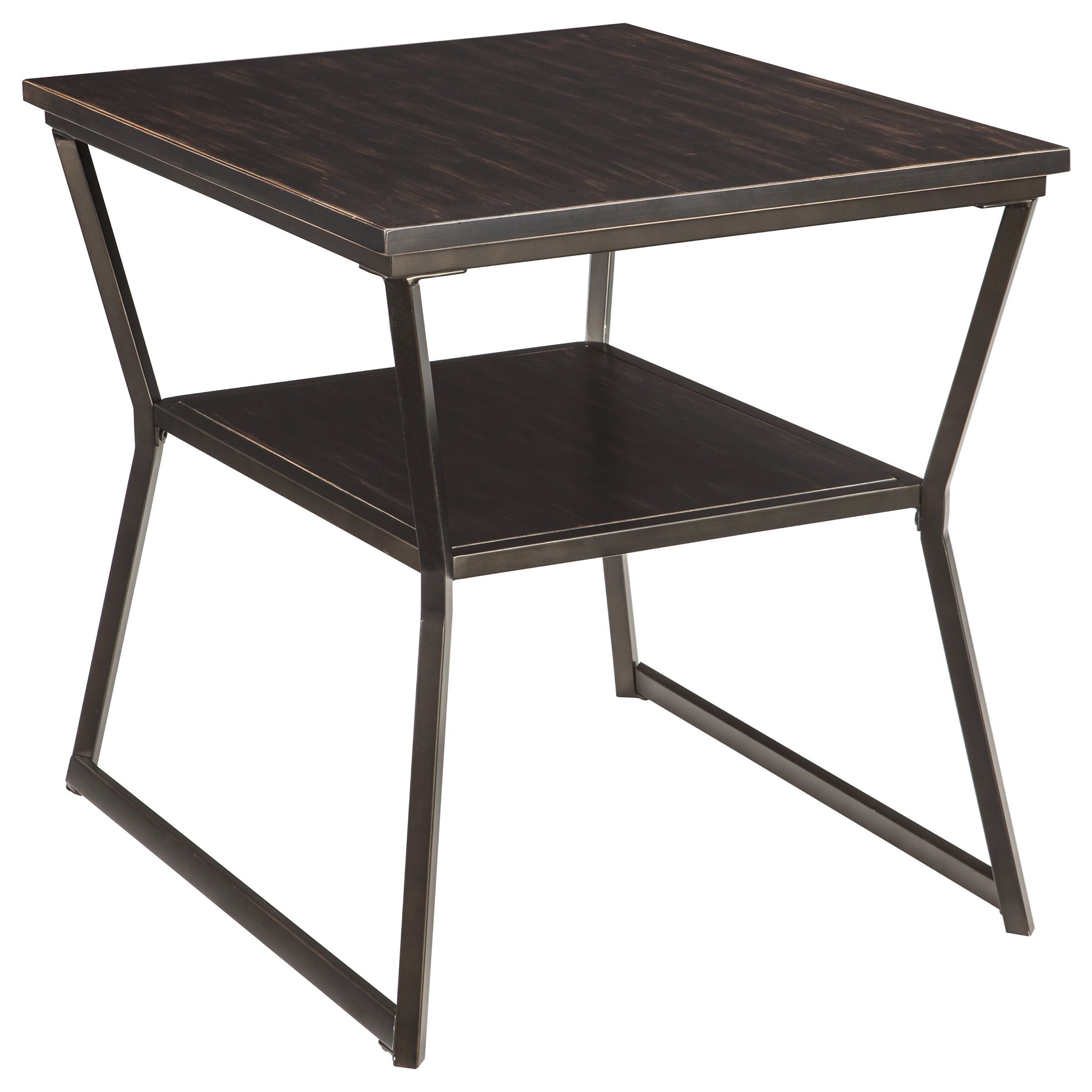 Signature Design by Ashley Vallodee Rectangular End Table  - Item Number: T436-3