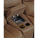 Signature Design by Ashley Valto Reclining Sofa with Angled Storage Console