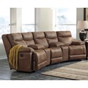 Signature Design by Ashley Valto Reclining Sectional with Angled Consoles - Item Number: 7940040+2x27+46+41