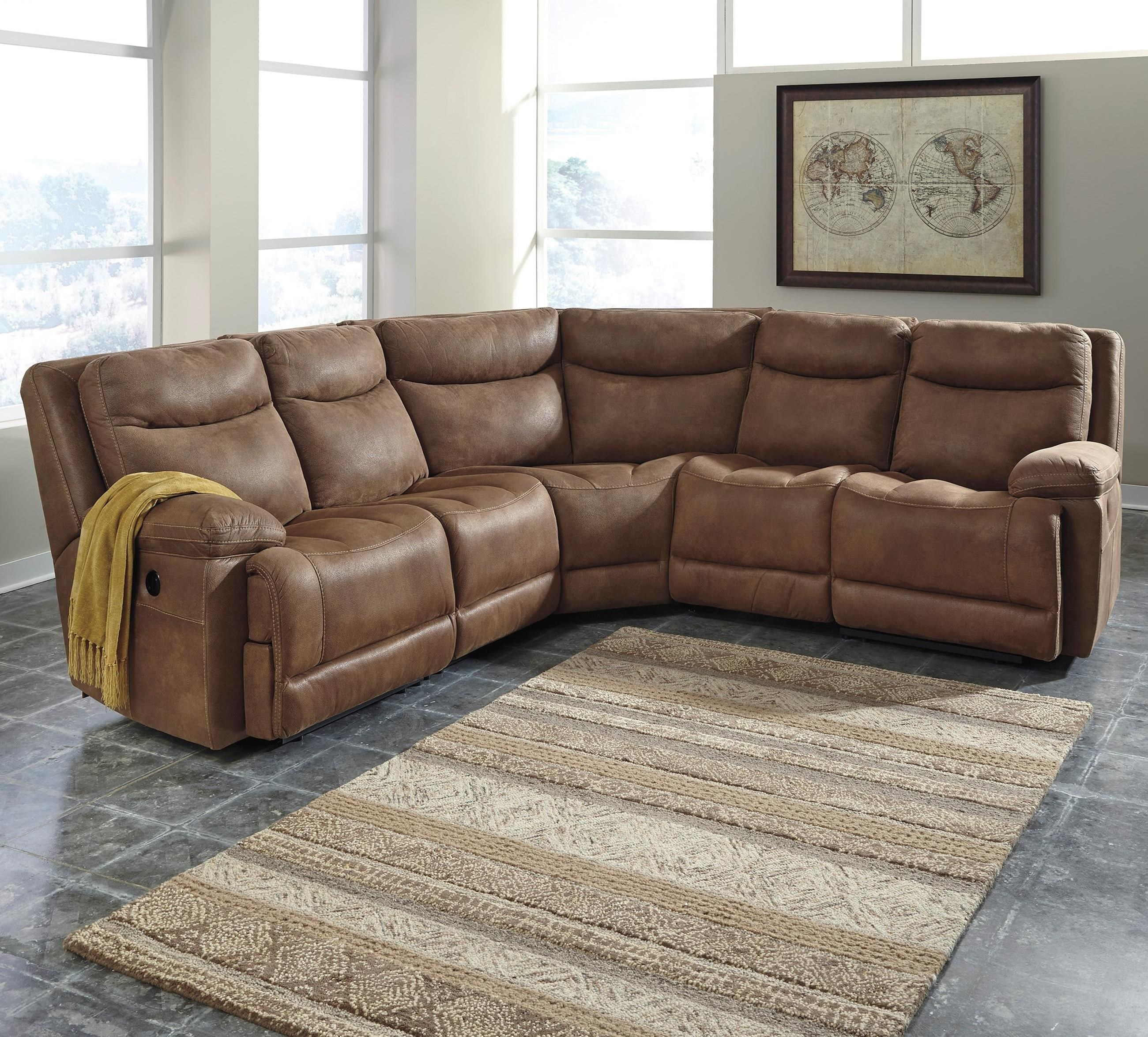 Signature Design by Ashley Valto 5-Piece Reclining Sectional - Item Number: 7940040+2x46+77+41