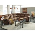 Signature Design by Ashley Valto 5-Piece Reclining Sectional