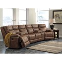 Signature Design by Ashley Valto Power Reclining Sectional with Angled Consoles