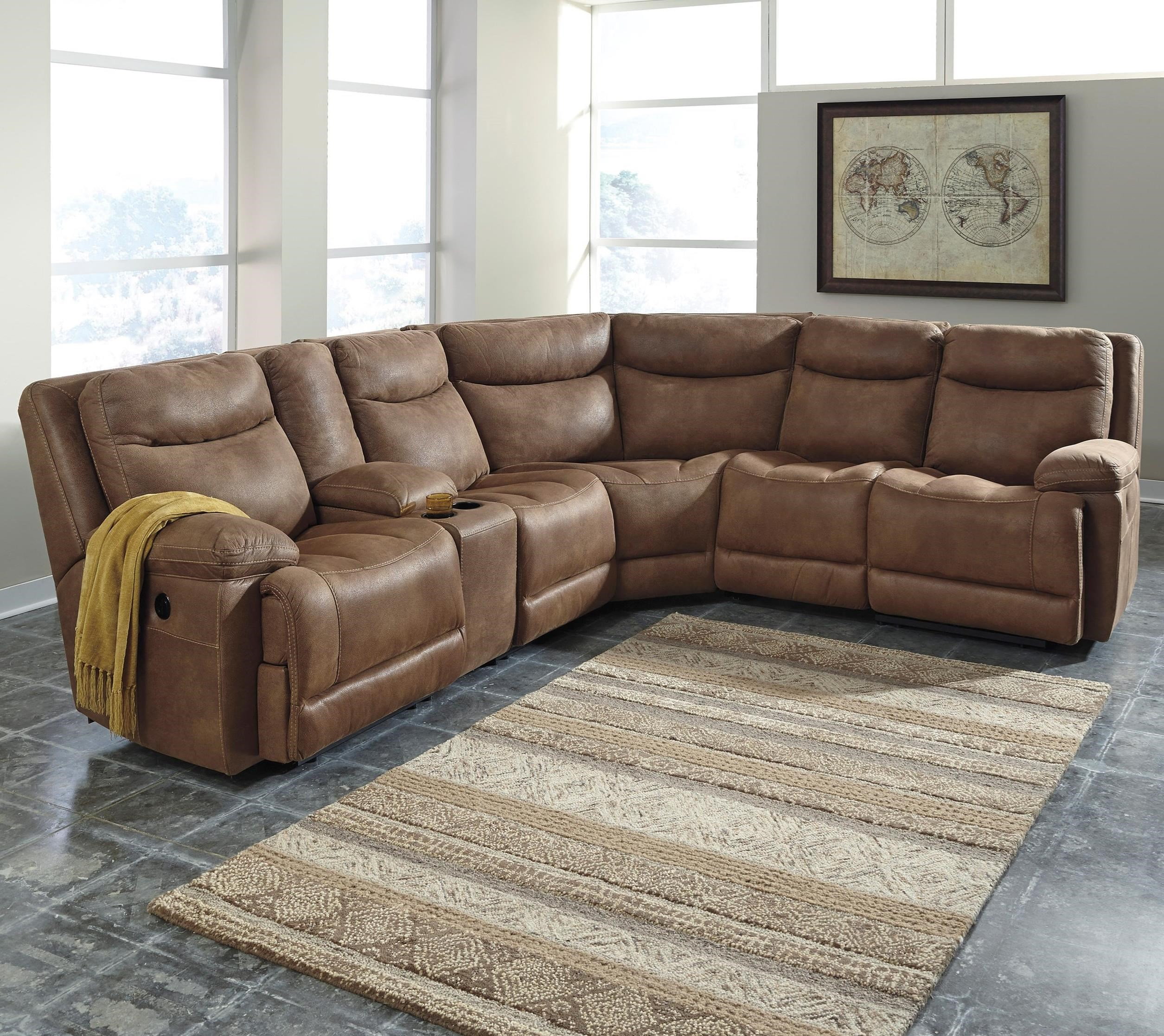 Signature Design by Ashley Valto Power Reclining Sectional with