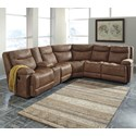 Signature Design by Ashley Valto Power Reclining Sectional w/ Storage Console - Item Number: 7940058+57+19+77+46+62