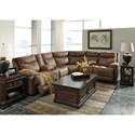 Signature Design by Ashley Valto Power Reclining Sectional with Storage Console