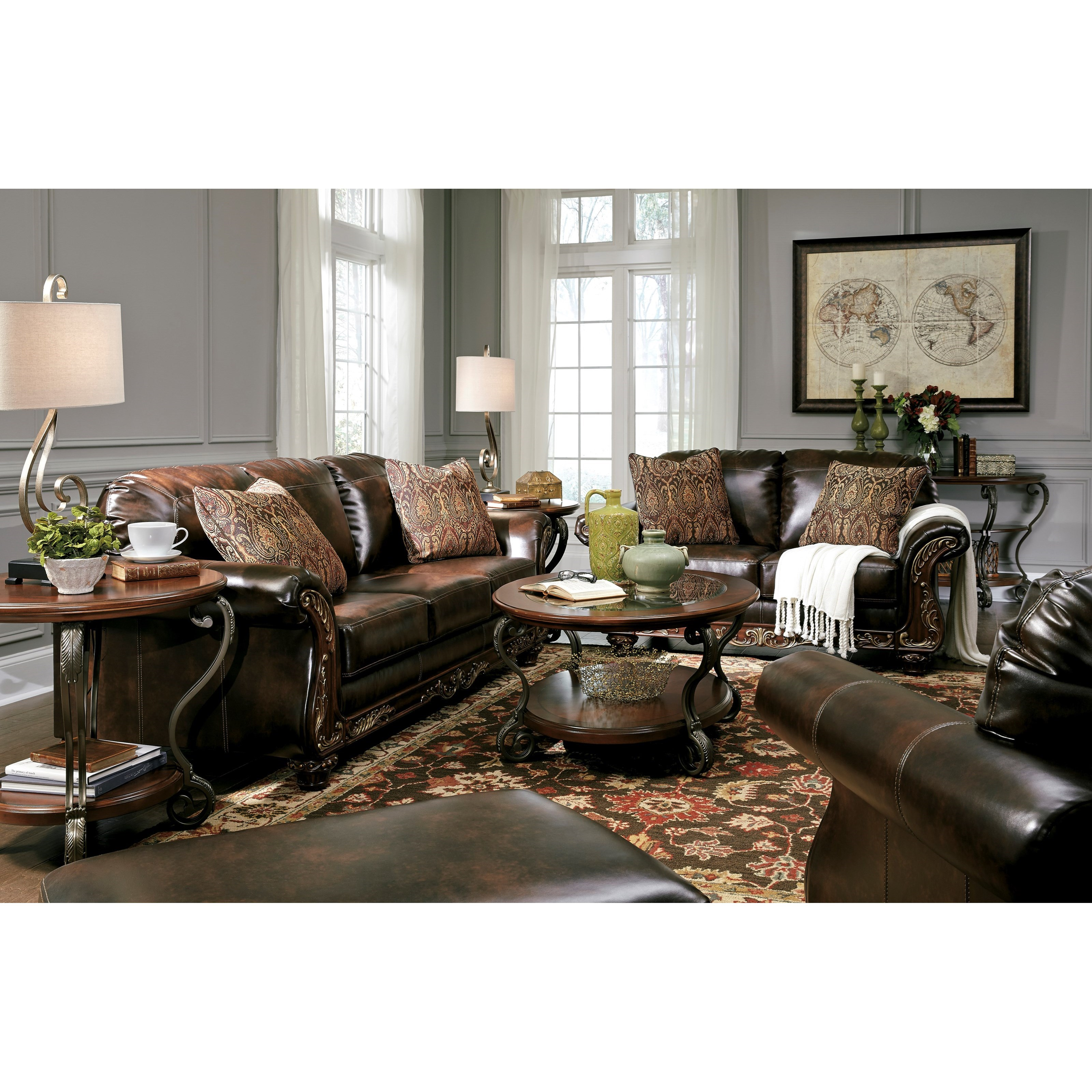 Signature Design by Ashley Vanceton Stationary Living Room Group - Item Number: 67402 Living Room Group 2