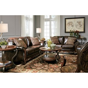 Signature Design by Ashley Vanceton Stationary Living Room Group