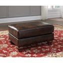 Signature Design by Ashley Vanceton Ottoman with Ornate Turned Feet