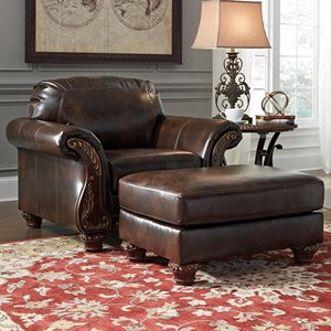 Signature Design by Ashley Vanceton Chair & Ottoman