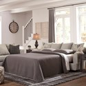 Signature Design by Ashley Velletri Relaxed Vintage Queen Sofa Sleeper with Memory Foam Mattress