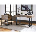 Signature Design by Ashley Viganni Mango Wood/Metal File Cabinet with Casters & Hinged Top