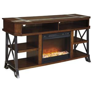 Ashley Signature Design Vinasville TV Stand with Fireplace Insert