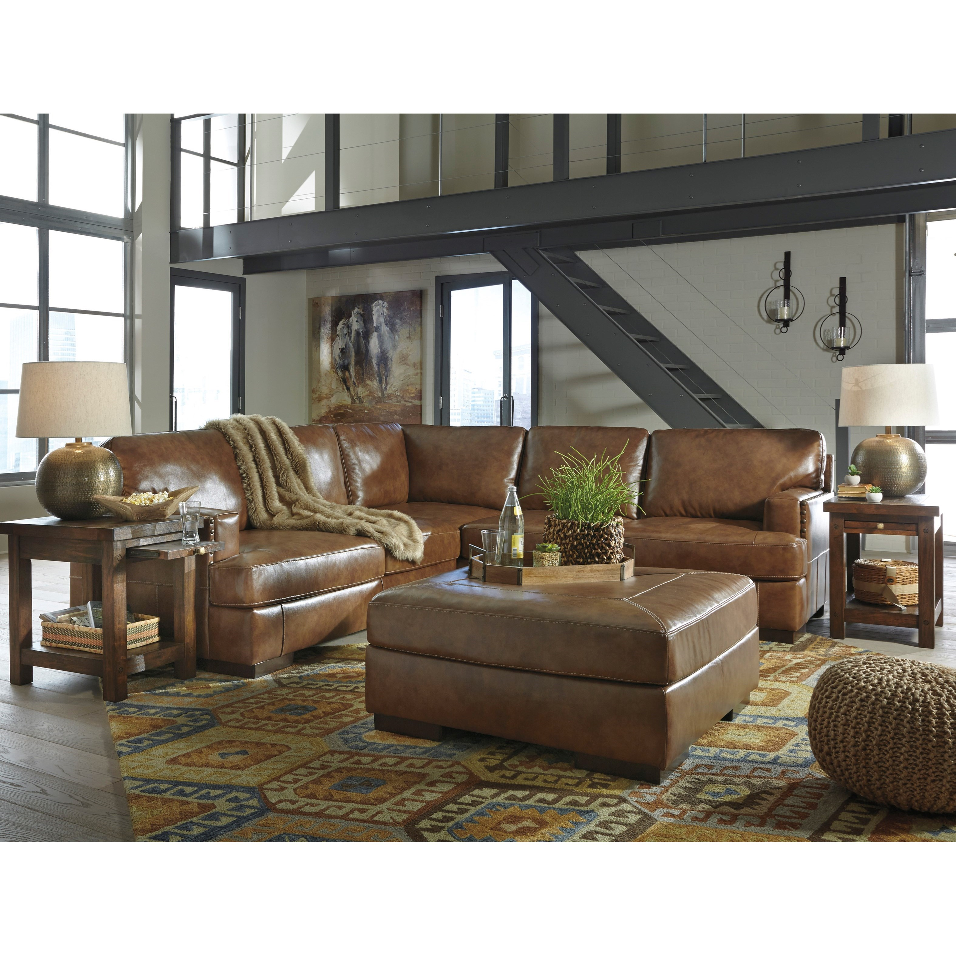 Signature Design by Ashley Vincenzo Stationary Living Room Group - Item Number: 30401 Living Room Group 1