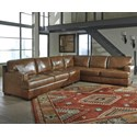 Signature Design by Ashley Vincenzo 3-Piece Sectional - Item Number: 3040155+46+67