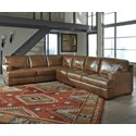 Signature Design by Ashley Vincenzo 3-Piece Sectional - Item Number: 3040166+46+56