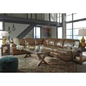 Signature Design by Ashley Vincenzo Leather Match 3-Piece Sectional
