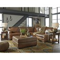 Signature Design by Ashley Vincenzo Leather Match 2-Piece Sectional