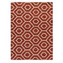 Signature Design by Ashley Casual Area Rugs Flatweave - Burnt Orange Large Rug - Item Number: R401221