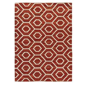 Signature Design by Ashley Casual Area Rugs Flatweave - Burnt Orange Medium Rug
