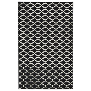 Signature Design by Ashley Casual Area Rugs Nathanael Black/White Large Rug