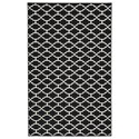Signature Design by Ashley Casual Area Rugs Nathanael Black/White Large Rug - Item Number: R402121