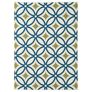 Signature Design by Ashley Casual Area Rugs Solfest Blue/Green Medium Rug