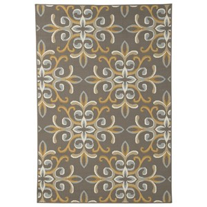 Signature Design by Ashley Casual Area Rugs Savery Brown/Gold Medium Rug
