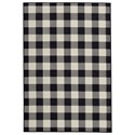 Signature Design by Ashley Casual Area Rugs Juji Black/Gray/White Medium Rug - Item Number: R402252