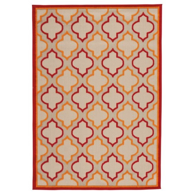 Jebediah Red/Orange Large Rug