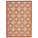 Signature Design by Ashley Casual Area Rugs Jebediah Red/Orange Medium Rug - Item Number: R402262