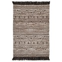Signature Design by Ashley Casual Area Rugs Kylin Taupe/Black Medium Rug - Item Number: R402562