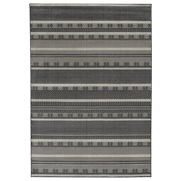 Jeven Black/Cream Medium Rug